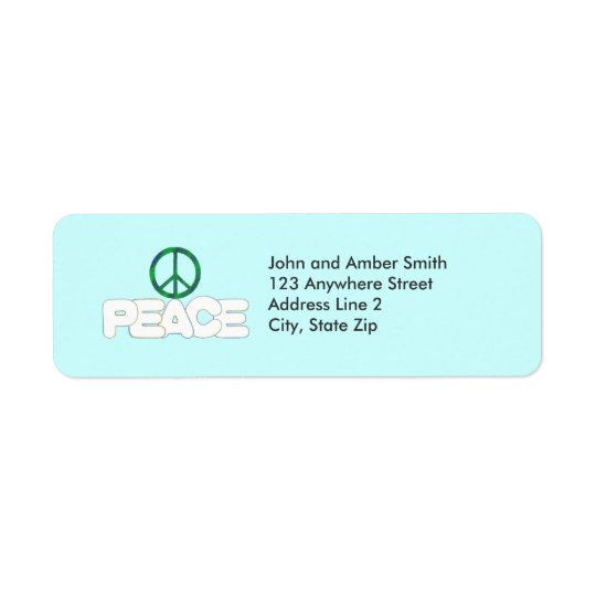 Peace Sign Return Address Labels