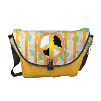 PEACE SIGN  Rickshaw MEDIUM Messenger Bag