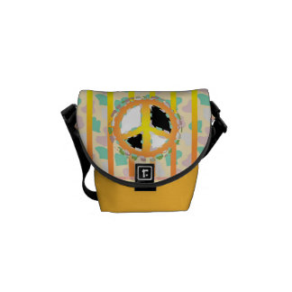 PEACE SIGN  Rickshaw MINI Messenger Bag
