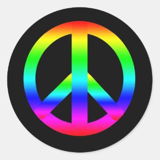 Peace Sign Round Sticker