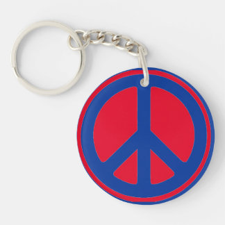 peace sign Single-Sided round acrylic key ring