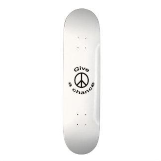 Peace Sign Skate Board