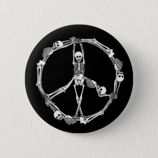 Peace Sign Skeletons 6 Cm Round Badge