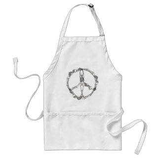 Peace Sign Skeletons Aprons