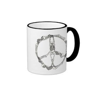 Peace Sign Skeletons Coffee Mugs