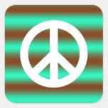 Peace Sign Square Sticker