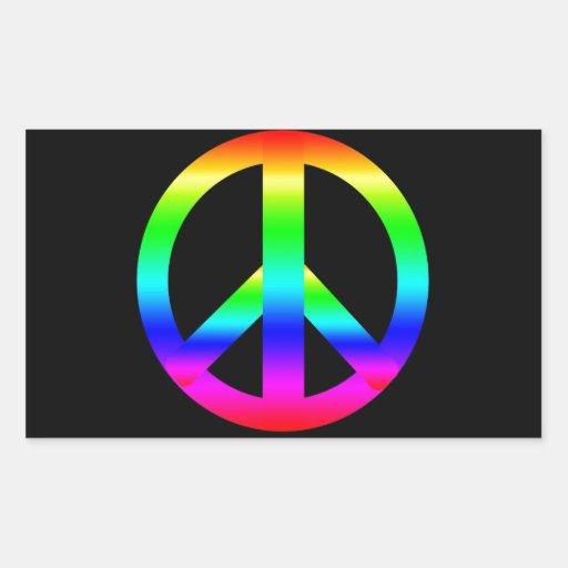 Peace Sign Rectangular Stickers