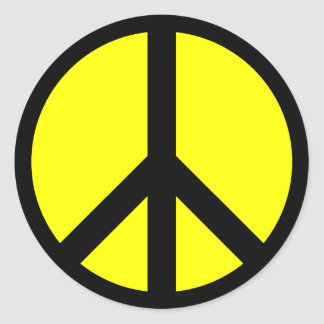 Peace Sign Round Sticker