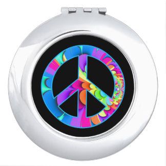 Peace Sign Summer Palette Compact Mirror