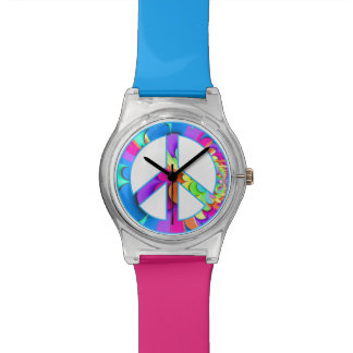 Peace Sign Summer Palette Fractal Watch