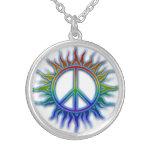 Peace Sign Sun Necklace
