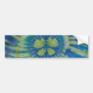 Peace Sign Swirl Tie Dye Sticker Bumper Stickers