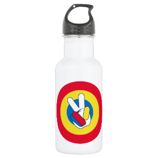 Peace Sign Target 532 Ml Water Bottle
