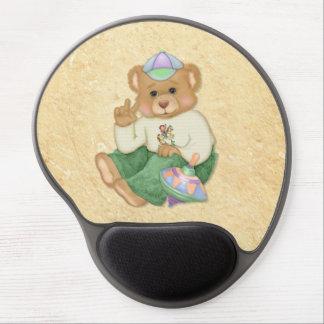 Peace Sign Teddy Bear Gel Mouse Mats