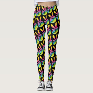 Peace Sign Tie Dye Leggings