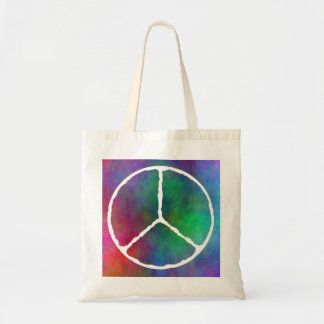 Peace sign tote bag-lightweight budget tote bag