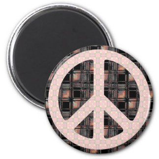 Peace Sign Trendy 6 Cm Round Magnet