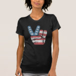 Peace Sign USA Vintage T Shirt