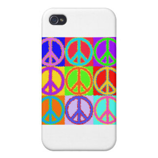 Peace Sign wavy design Covers For iPhone 4