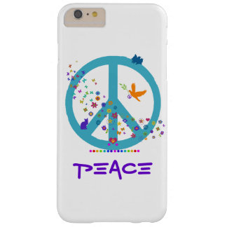 Peace Sign with Rainbow Colors Barely There iPhone 6 Plus Case