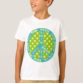 Peace Sign with Swim in Frame Tee Shirts