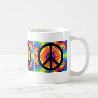 Peace Sign With Tye-Dye Basic White Mug