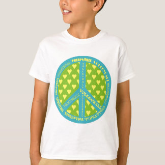 Peace Sign with Volleyball in Frame T-Shirt