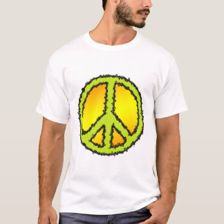 Peace Sign Yellow Green T-Shirt