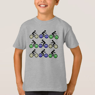 peace signs and bicycles t-shirt