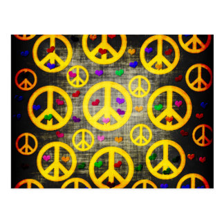 Peace Signs and Hearts Postcard
