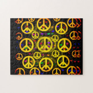 Peace Signs and Hearts Puzzle
