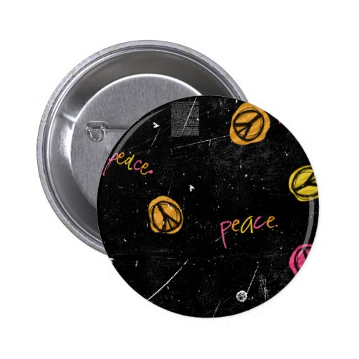 PEACE SIGNS BUTTON