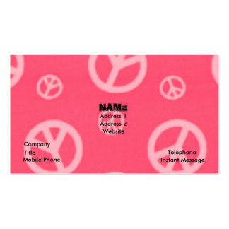 PEACE SIGNS BUSINESS & CALLING CARDS PACK OF STANDARD BUSINESS CARDS