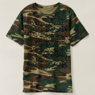 Peace Signs Camo Shirt