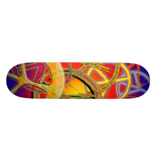PEACE SIGNS COLLAGE SKATEBOARD