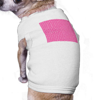 Peace Signs on Bright Pink Sleeveless Dog Shirt