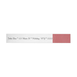 Peace Signs on Holiday Red Wraparound Address Label