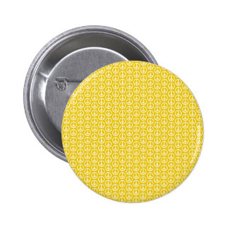 Peace Signs on Sunny Yellow 6 Cm Round Badge