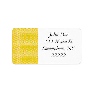 Peace Signs on Sunny Yellow Address Label