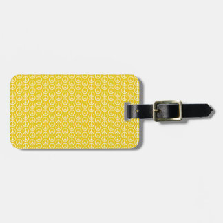 Peace Signs on Sunny Yellow Bag Tag