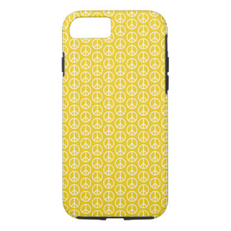 Peace Signs on Sunny Yellow iPhone 7 Case