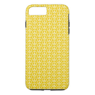 Peace Signs on Sunny Yellow iPhone 7 Plus Case