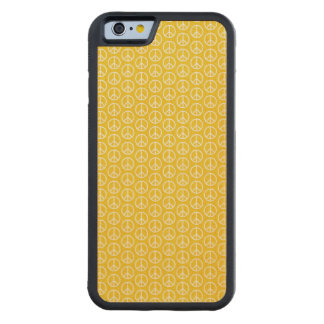 Peace Signs on Sunny Yellow Maple iPhone 6 Bumper Case