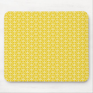 Peace Signs on Sunny Yellow Mouse Pad