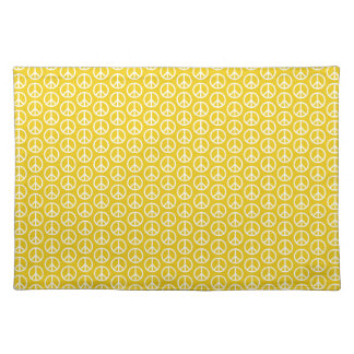 Peace Signs on Sunny Yellow Place Mats