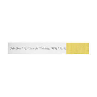 Peace Signs on Sunny Yellow Wraparound Address Label