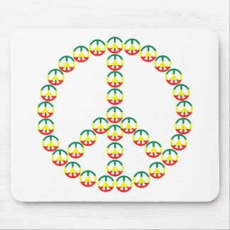 PEACE SIGNS PEACE SIGN MOUSE PAD