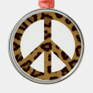 Peace Silver-Colored Round Decoration