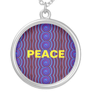 PEACE: Silver Necklace (Lg)
