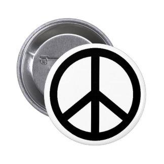 peace simbol 6 cm round badge